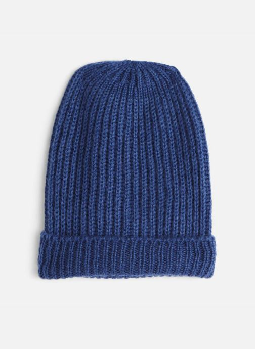 Bonnets Monoprix Femme BONNET TRICOT FIN UNI Bleu vue détail/paire