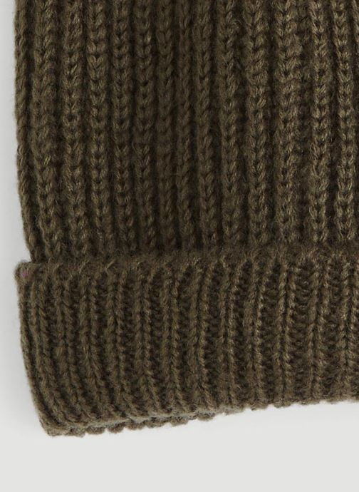 Bonnets Monoprix Femme BONNET TRICOT FIN UNI Vert vue portées chaussures