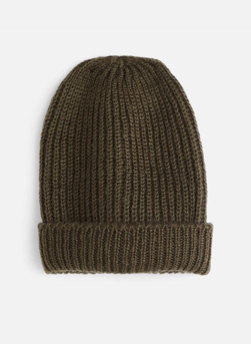 Bonnets Monoprix Femme BONNET TRICOT FIN UNI Vert vue détail/paire