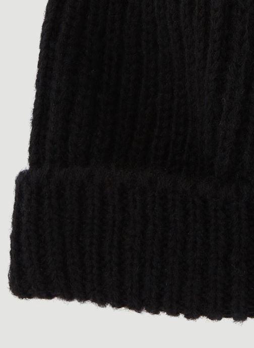 Berretto Monoprix Femme BONNET TRICOT FIN UNI Nero modello indossato