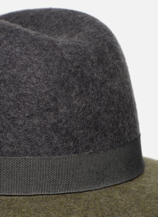 Hut Monoprix Femme Chapeau feutre bicolore grün ansicht von vorne