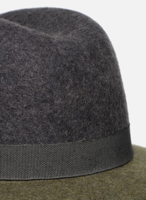 Hatt Monoprix Femme Chapeau feutre bicolore Grön bild från framsidan