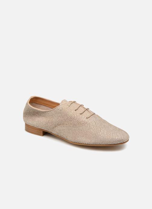 Chaussures à lacets Monoprix Femme Derbies en cuir Or et bronze vue détail/paire