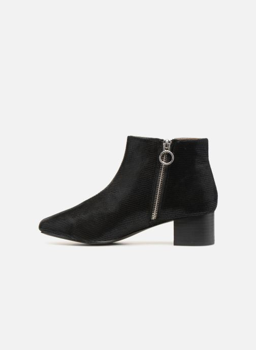 Boots en enkellaarsjes Monoprix Femme Bottines Zwart voorkant