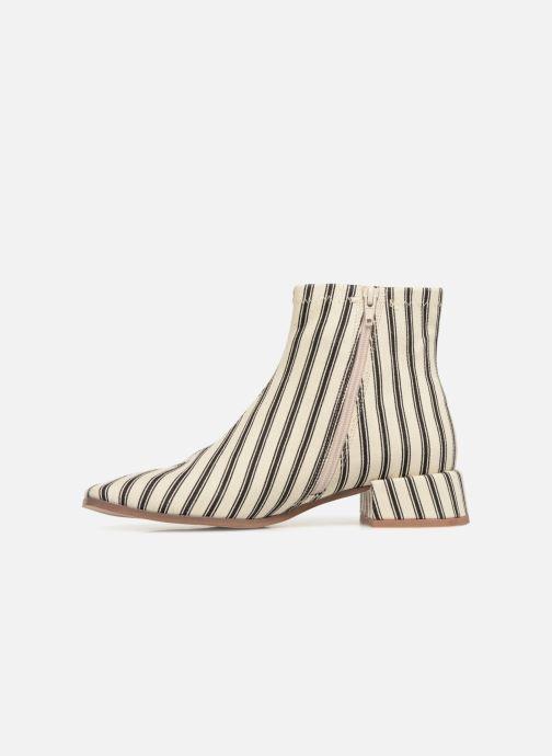 Bottines et boots Monoprix Femme BOOTS BOUT CARRE Blanc vue face