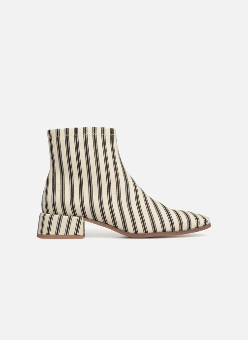 Bottines et boots Monoprix Femme BOOTS BOUT CARRE Blanc vue derrière
