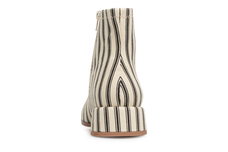 Bottines et boots Monoprix Femme BOOTS BOUT CARRE Blanc vue droite