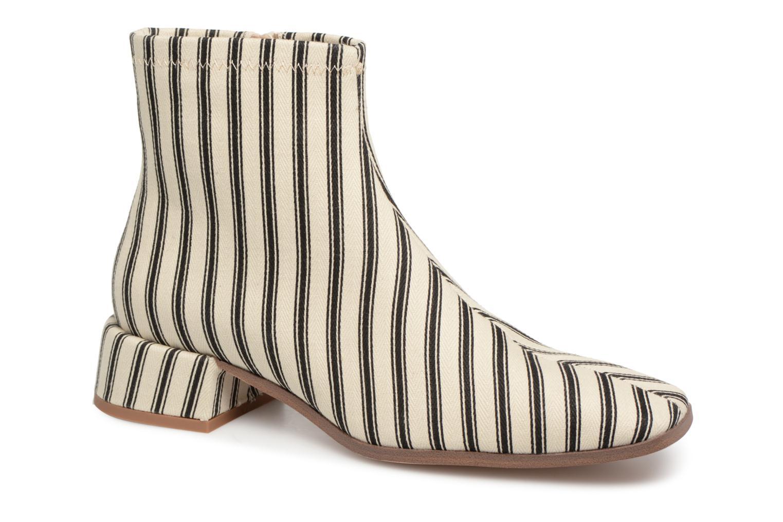 Bottines et boots Monoprix Femme BOOTS BOUT CARRE Blanc vue détail/paire