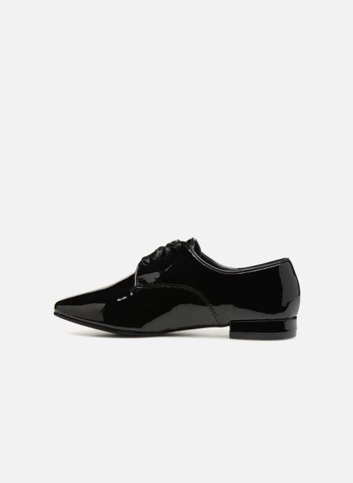 Chaussures à lacets Monoprix Femme DERBY PU VERNIS Noir vue face