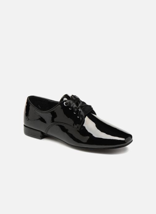 Chaussures à lacets Monoprix Femme DERBY PU VERNIS Noir vue détail/paire