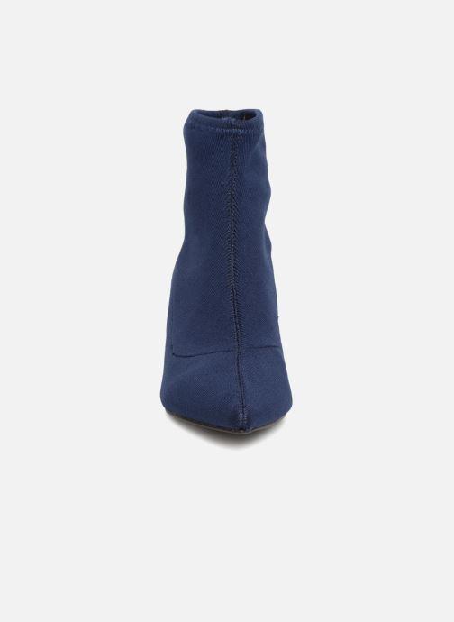 Bottines et boots Monoprix Femme BOOTS COTE CHAUSSETTE Bleu vue portées chaussures