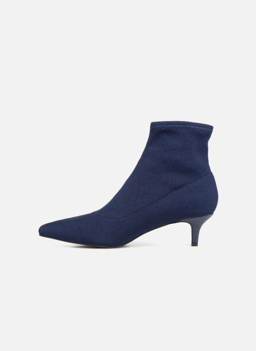 Stivaletti e tronchetti Monoprix Femme BOOTS COTE CHAUSSETTE Azzurro immagine frontale