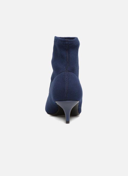 Bottines et boots Monoprix Femme BOOTS COTE CHAUSSETTE Bleu vue droite