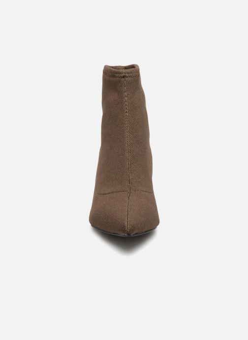 Bottines et boots Monoprix Femme BOOTS COTE CHAUSSETTE Vert vue portées chaussures
