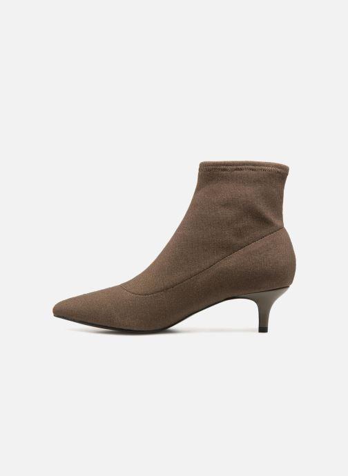 Ankle boots Monoprix Femme BOOTS COTE CHAUSSETTE Green front view