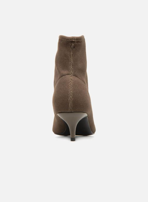 Ankle boots Monoprix Femme BOOTS COTE CHAUSSETTE Green view from the right