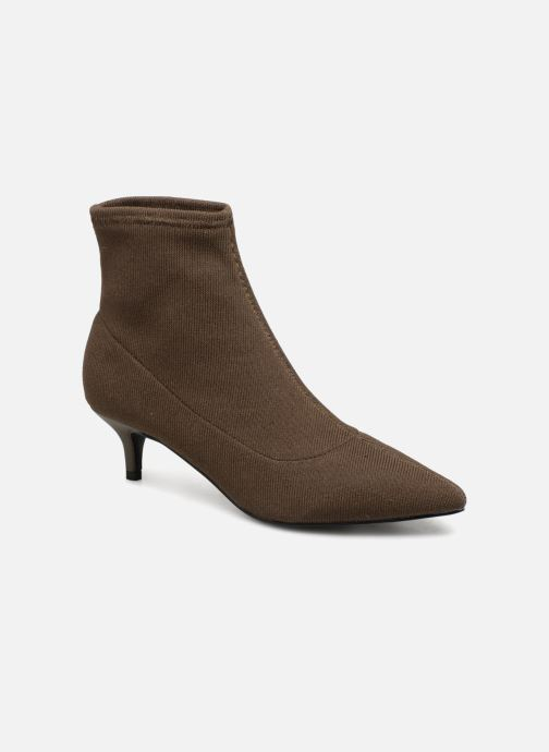Ankle boots Monoprix Femme BOOTS COTE CHAUSSETTE Green detailed view/ Pair view