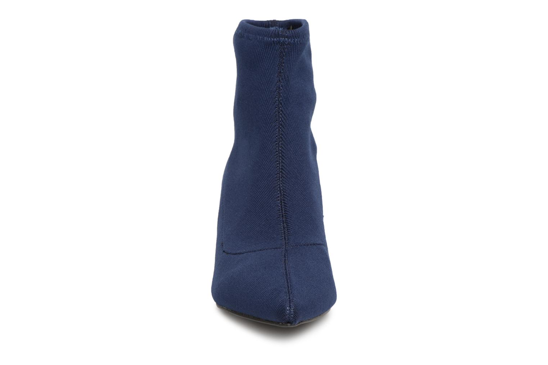 Stivaletti e tronchetti Monoprix Femme BOOTS COTE CHAUSSETTE Azzurro modello indossato