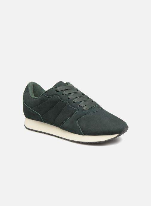 Trainers Monoprix Femme BASKET UNIES Green detailed view/ Pair view