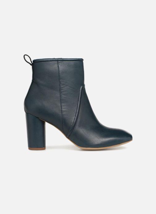 Bottines et boots Monoprix Femme BOTTINE CUIR TALON ROND Bleu vue derrière