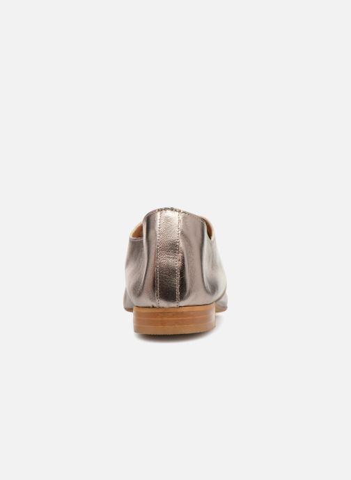 Scarpe con lacci Monoprix Femme Derby en cuir lisse Argento immagine destra