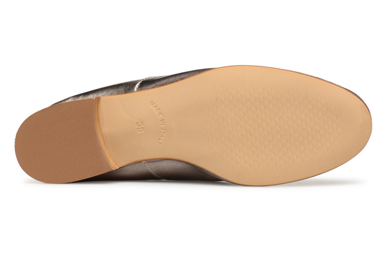 Scarpe con lacci Monoprix Femme Derby en cuir lisse Argento immagine dall'alto