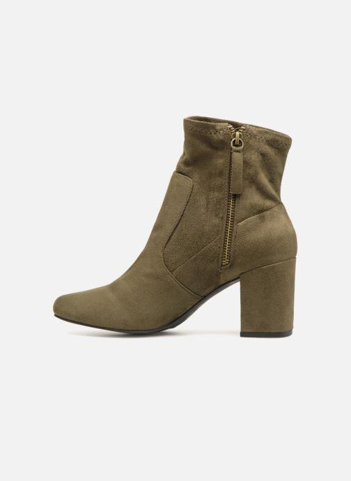 Bottines et boots Monoprix Femme Bottines chaussette Vert vue face