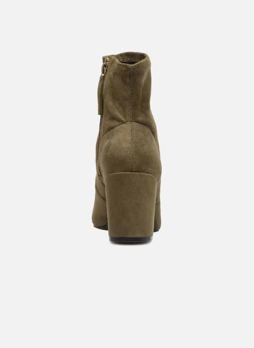 Bottines et boots Monoprix Femme Bottines chaussette Vert vue droite