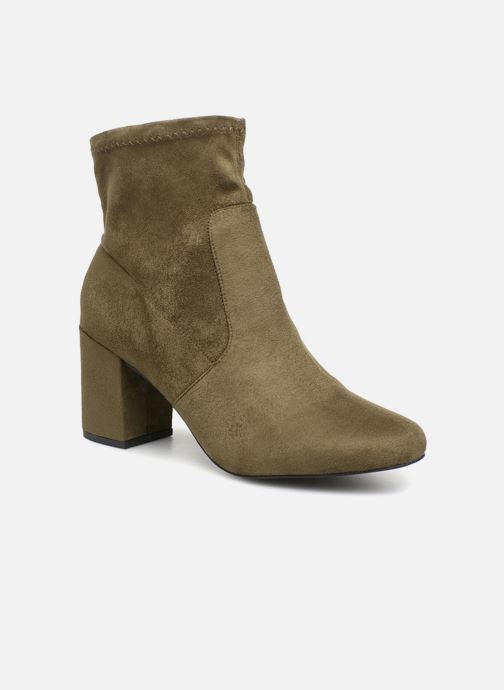 Bottines et boots Monoprix Femme Bottines chaussette Vert vue détail/paire