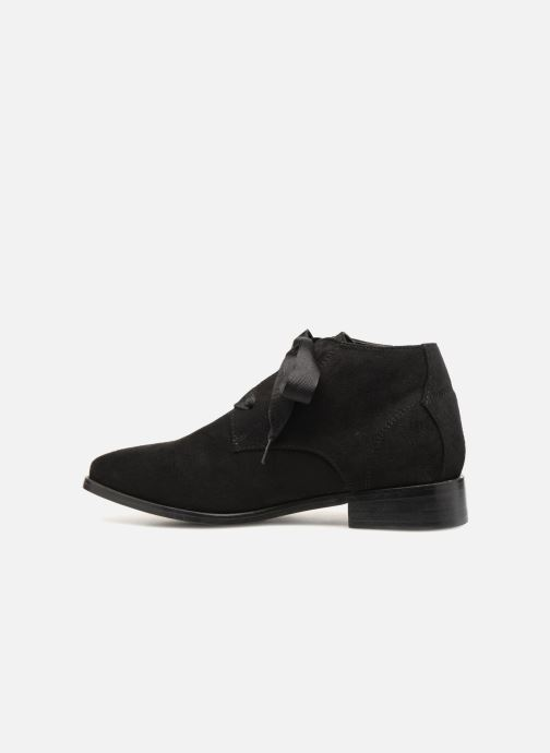 Ankle boots Monoprix Femme BOTTINE GRAINE Black front view