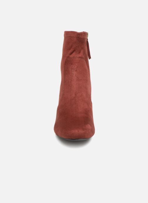 Ankle boots Monoprix Femme BOOTS CHAUSSETTE Red model view