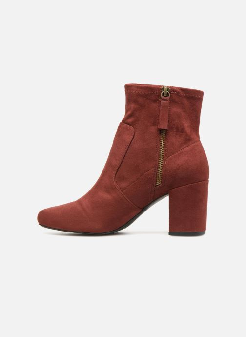 Ankle boots Monoprix Femme BOOTS CHAUSSETTE Red front view