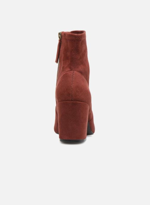 Ankle boots Monoprix Femme BOOTS CHAUSSETTE Red view from the right
