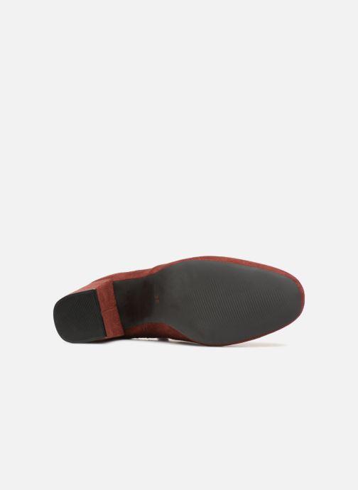 Botines  Monoprix Femme BOOTS CHAUSSETTE Rojo vista de arriba