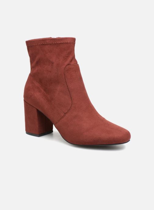 Ankle boots Monoprix Femme BOOTS CHAUSSETTE Red detailed view/ Pair view