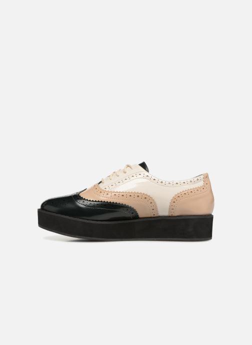Zapatos con cordones Monoprix Femme DERBY PU TRICOLOR Multicolor vista de frente