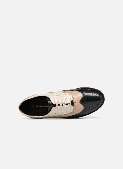 Chaussures à lacets Monoprix Femme DERBY PU TRICOLOR Multicolore vue gauche