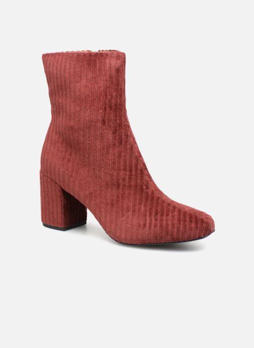 Stiefeletten & Boots Monoprix Femme BOTTINE TALON VELOURS rot detaillierte ansicht/modell