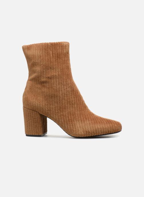 Ankle boots Monoprix Femme BOTTINE TALON VELOURS Brown back view