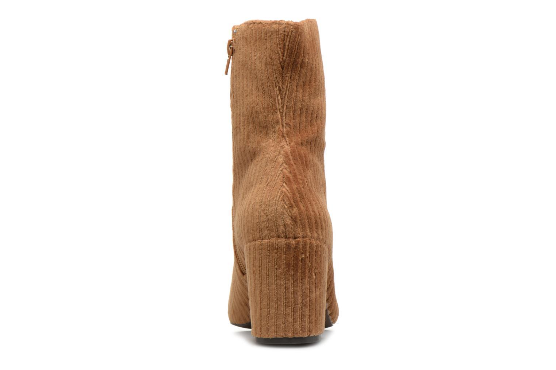 Bottines et boots Monoprix Femme BOTTINE TALON VELOURS Marron vue droite