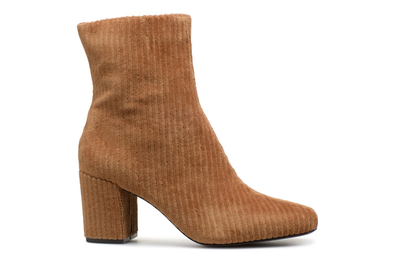 Bottines et boots Monoprix Femme BOTTINE TALON VELOURS Marron vue derrière
