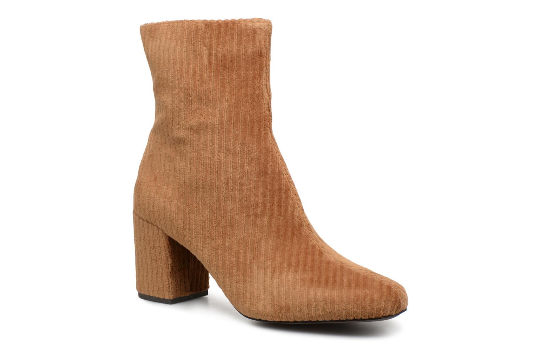 Bottines et boots Monoprix Femme BOTTINE TALON VELOURS Marron vue détail/paire