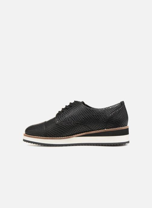 Chaussures à lacets Monoprix Femme DERBY CUIR CREPE Noir vue face