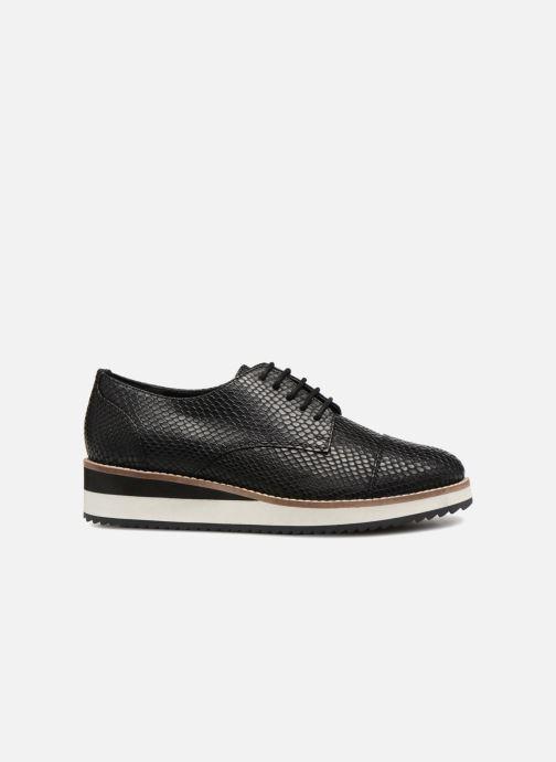 Chaussures à lacets Monoprix Femme DERBY CUIR CREPE Noir vue derrière