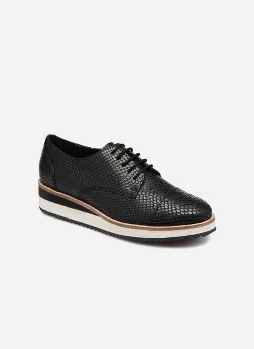 Chaussures à lacets Monoprix Femme DERBY CUIR CREPE Noir vue détail/paire