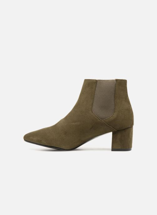 Bottines et boots Monoprix Femme BOTTINES TALON SUEDE Vert vue face