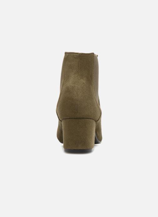 Bottines et boots Monoprix Femme BOTTINES TALON SUEDE Vert vue droite