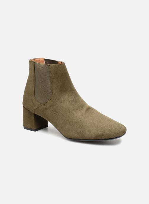 Bottines et boots Monoprix Femme BOTTINES TALON SUEDE Vert vue détail/paire