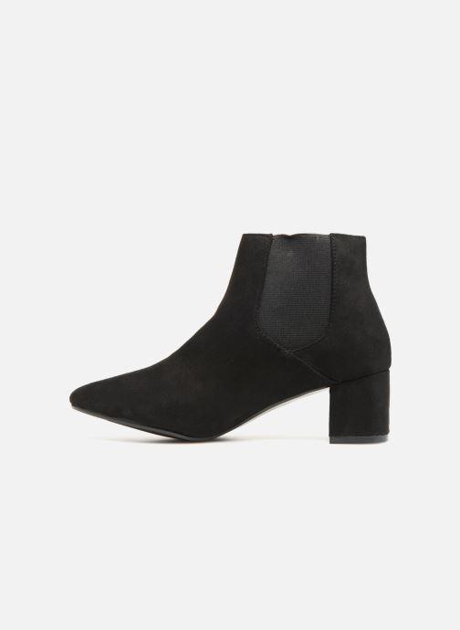 Bottines et boots Monoprix Femme BOTTINES TALON SUEDE Noir vue face