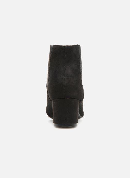 Bottines et boots Monoprix Femme BOTTINES TALON SUEDE Noir vue droite